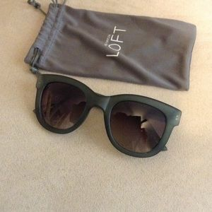 Loft sunglasses green nwot